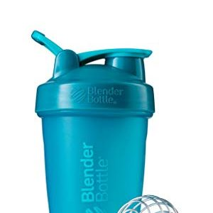 BlenderBottle Classic Loop Top Shaker Bottle, 20-Ounce, Teal/Teal