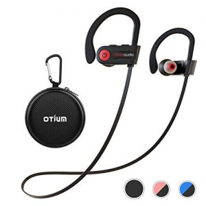 Otium Wireless Headphones, Bluetooth Headphones, Best Sports Earbuds, IPX7 Waterproof Stereo Earphones for Gym Running 9 Hours Playtime Noise Cancelling Headsets
