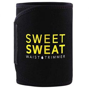 Sweet Sweat Premium Waist Trimmer, for Men & Women. Includes Free Sample of Sweet Sweat Gel! (X-Large),Black & Yellow