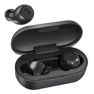 Mpow M7 Bluetooth Sports Earbuds, Wireless Earbuds w/IPX7 Sweatproof, Deep Bass Bluetooth Earbuds w/30Hrs/Binaural Noise Cancellation Mics, Bluetooth 5.0 Running Earbuds w/USB C Charging, Black